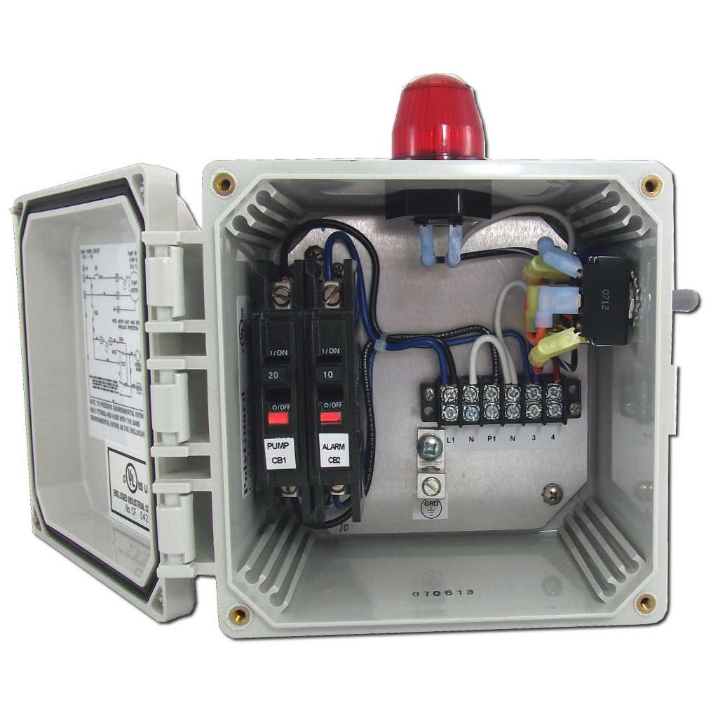 Spi Bio Pump Control Panel With High Water Alarm Model