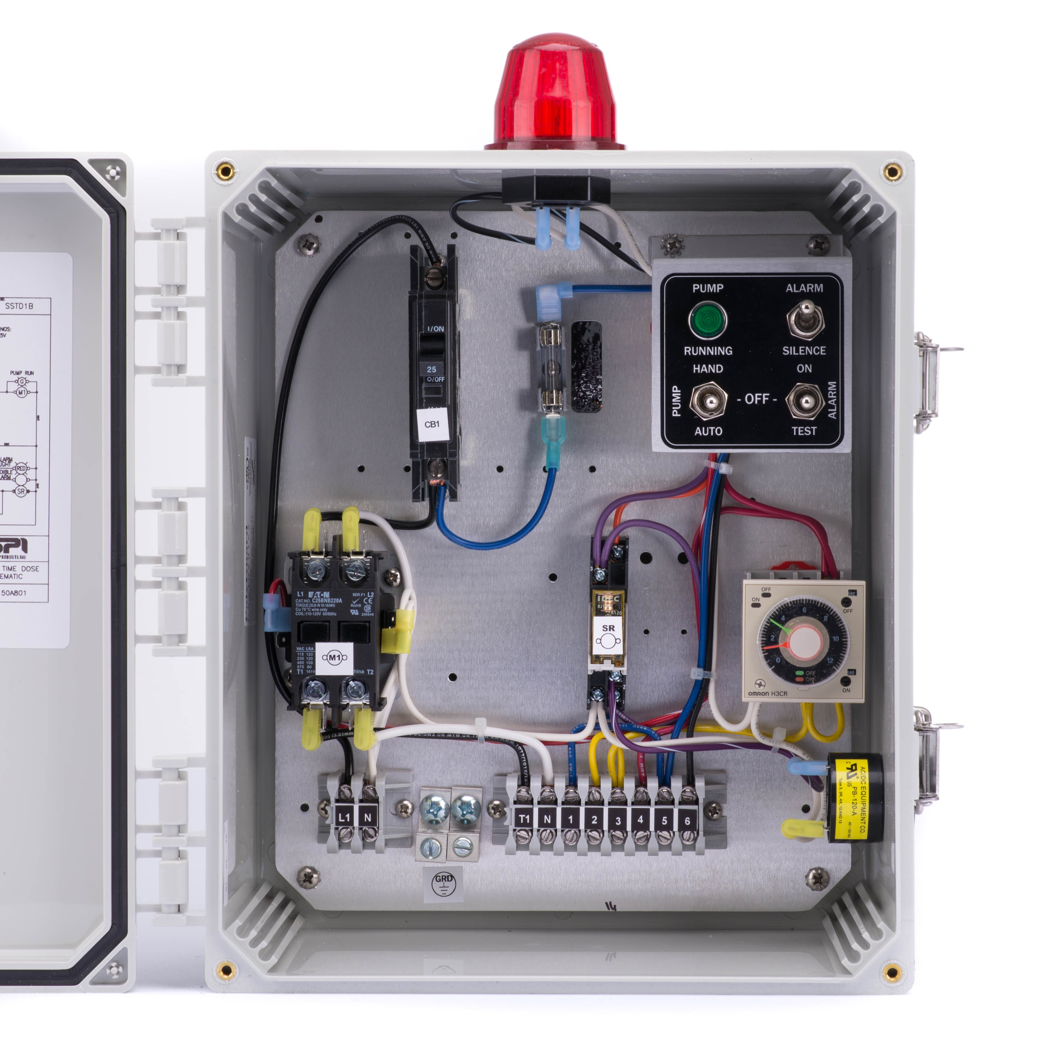 SPI Model SSTD1B Simplex Time Dosing Control Panel (120V, 0-20FLA) - 50A801