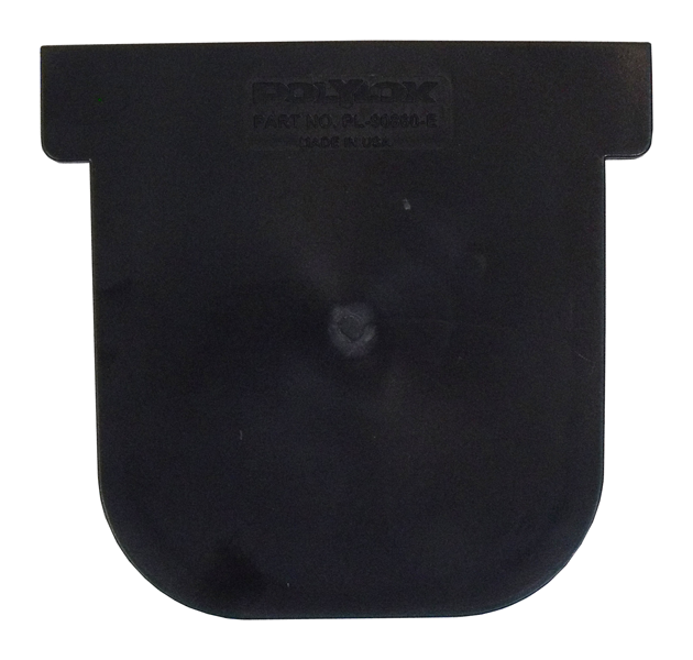 PolyLok Closed End Cap for Polylok Heavy Duty Channel & Trench Drain (PL-90860-CE) - (Black)