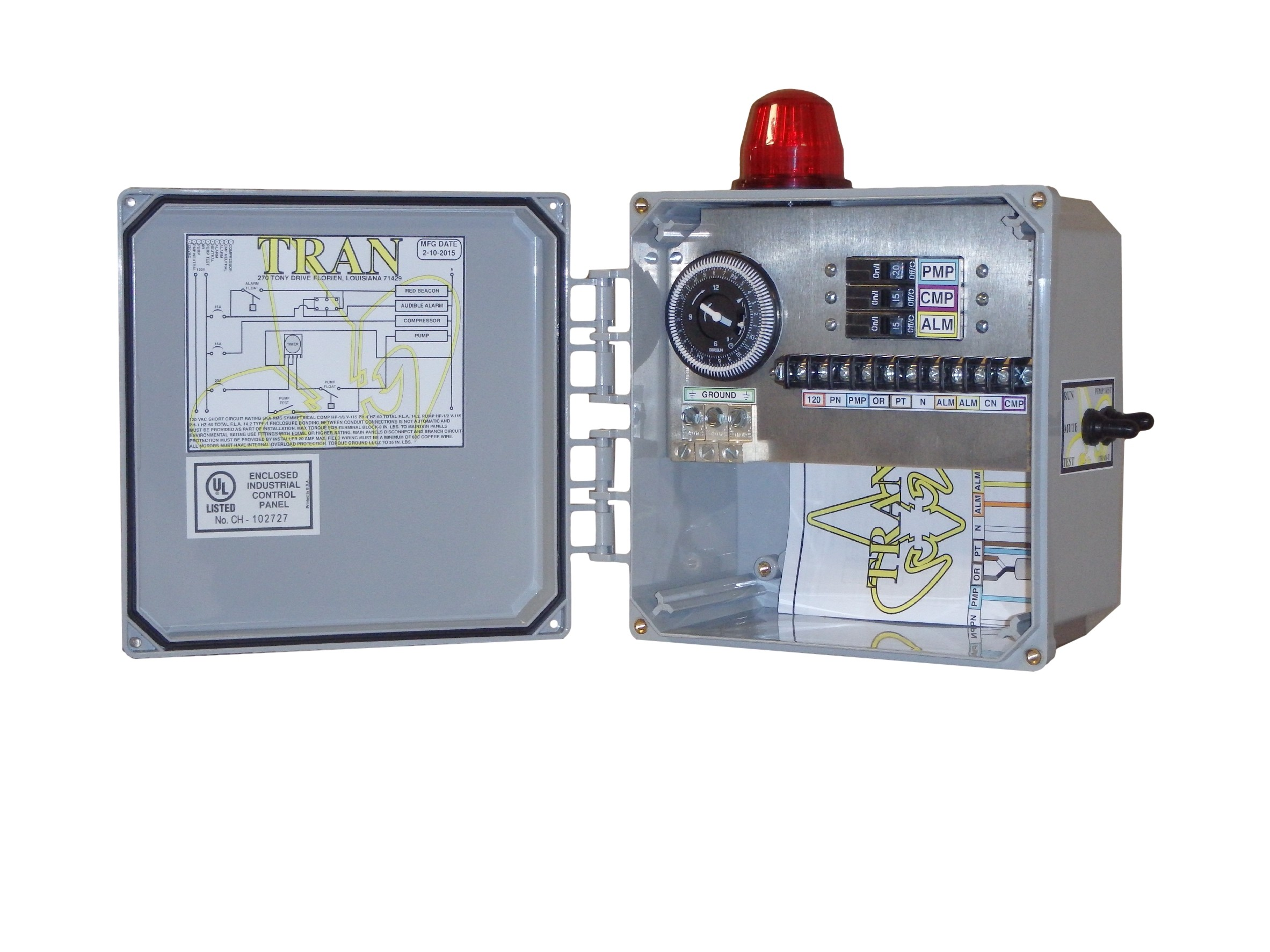 Time Control Panel : Tran t aerobic septic control panel with timer tg wastewater