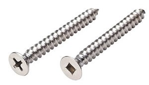 Stainless Steel Screws  Phillips or Square Drive #10 1-3/4in Pan Head Screws - 18/8 Stainless Steel
