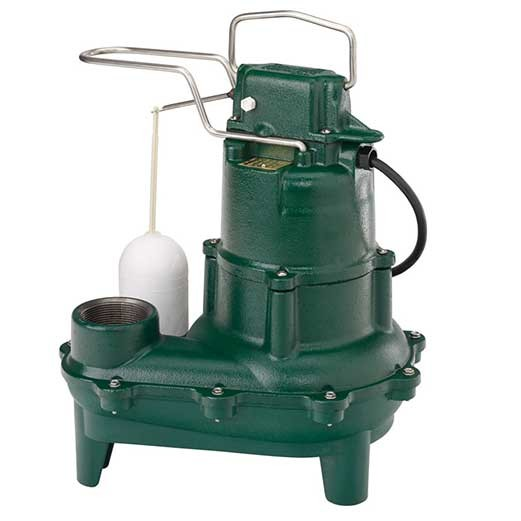 "Zoeller M264 Waste-Mate - 4/10 HP Cast Iron Sewage Pump (2"") w/ Vertical Float"