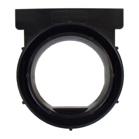 PolyLok Open End Cap for Polylok Heavy Duty Channel & Trench Drain (PL-90860-OE) - (Black)
