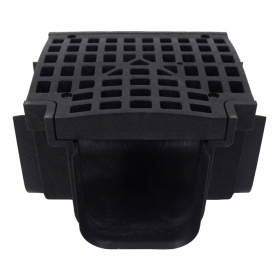 PolyLok Tee Connection for Polylok Heavy Duty Channel & Trench Drain (PL-90860-T) - (Black)
