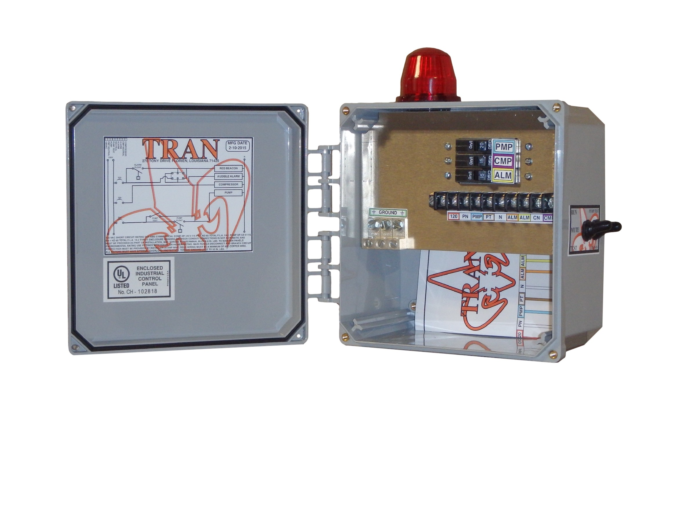 Tran-N Aerobic Septic Control Panel Without Timer