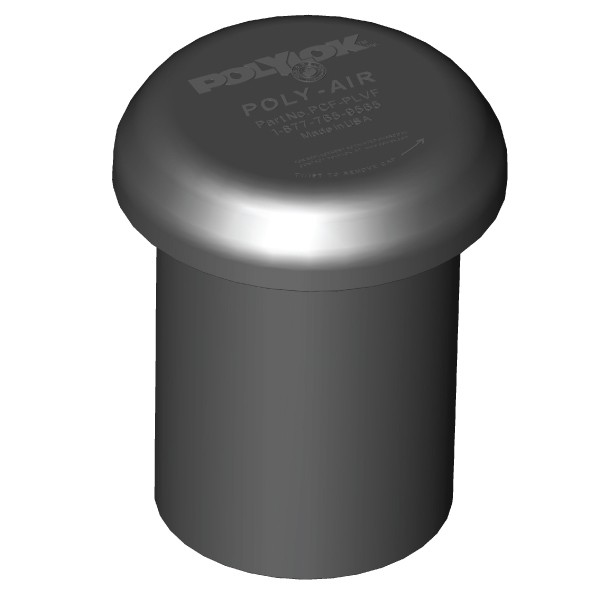 "Polylok Poly-Air™ Activated Carbon Vent - Fits 4"" and 3"""