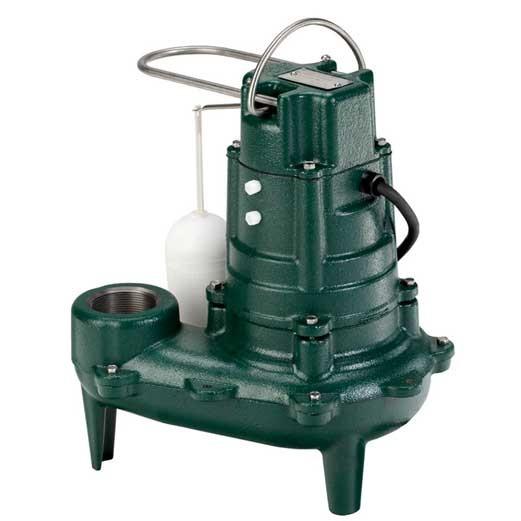 "Zoeller M267 Waste-Mate - 1/2 HP Cast Iron Sewage Pump (2"") w/ Vertical Float"