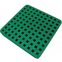 "Tuf-Tite 11""x11"" B1-DGG: Drain Grate (Green) - For 4 Hole Distribution Boxes"