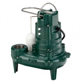 "Zoeller M267 Waste-Mate - 1/2 HP Cast Iron Sewage Pump (2"") w/ Vertical Float"