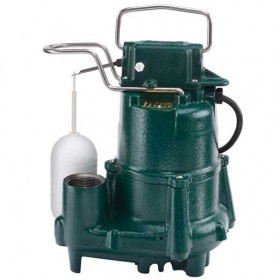 Zoeller M98 Flow-Mate - 1/2 HP Cast Iron Submersible Sump Pump w/ Vertical Float Switch